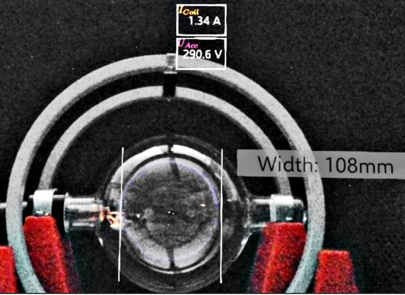 Augmenting the fine beam tube: From hybrid measurements to magnetic field visualization