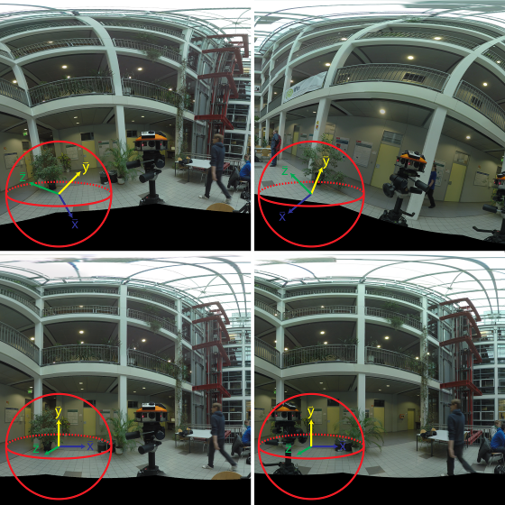 Automatic Upright Alignment of Multi-View Spherical Panoramas