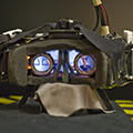 A Nonobscuring Eye Tracking Solution for Wide Field-of-View Head-mounted Displays